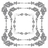 Vector set Rococo frame Stock Image