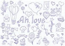 Vector set of romantic symbols Stock Photos