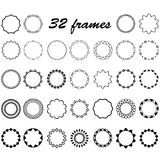 Vector set of round and circular empty frames for decoration Stock Image
