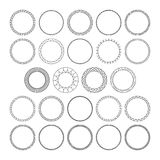 Vector set of round decorative patterns frame for design Royalty Free Stock Photos