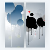 Vector set round frame dripping ink background Royalty Free Stock Photos