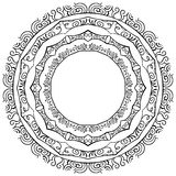 Vector set of round frames on a white background Stock Image