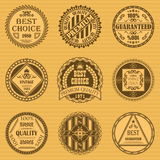 Vector set of round labels Stock Photography