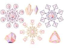 Vector crystals set vector illustration