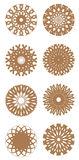 Vector set of round ornaments Royalty Free Stock Photo