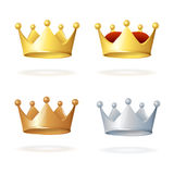 Vector. Set of royal crowns Royalty Free Stock Photos