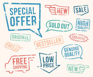 Vector set: rubber stamps Royalty Free Stock Photography
