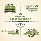 Vector set of Saint Patricks Day ornaments and dec Royalty Free Stock Photography