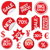 Vector set of sale icons Stock Photography