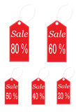 Vector Set of sale labels Stock Image