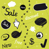 vector set of sale objects Stock Photo
