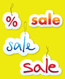 Vector set of sales tags Royalty Free Stock Photography