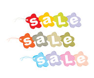 Vector set of sales tags Stock Photo