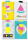 Vector set of scandinavian cards. Summer posters Stock Photography
