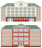 Vector set of school buildings on white background. Set of school buildings on white background. Vector illustration Stock Photo