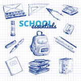Vector set of school items Royalty Free Stock Photos
