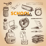 Vector set of school items Royalty Free Stock Image