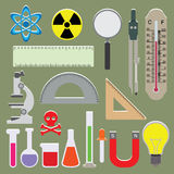 Vector set of science icons Royalty Free Stock Photos