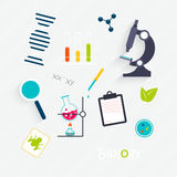 Vector Set: Science Lab Objects Stock Photos