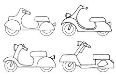 Vector set scooters Stock Photography