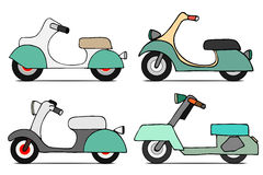 Vector set scooters Royalty Free Stock Photography