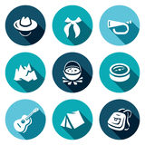 Vector Set of Scouting Icons.  Royalty Free Stock Photo