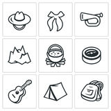 Vector Set of Scouting Icons.  Stock Images