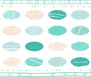 Vector set of scribble elements Royalty Free Stock Photography