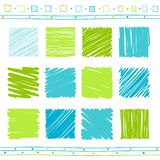 Vector set of scribble elements stock image
