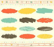 Vector set of scribble elements Royalty Free Stock Images