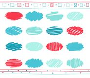 Vector set of scribble elements Stock Photography