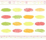 Vector set of scribble elements Royalty Free Stock Photo