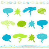 Vector set of scribble  scribbled speech bubbles Stock Photo