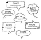 Vector set of scribbled comic speech bubbles Royalty Free Stock Photo
