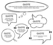 Vector set of scribbled comic speech bubbles Stock Photography