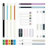Vector set of scroll for web Royalty Free Stock Photo