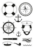 Vector. Set of sea and nautical decorations Royalty Free Stock Image