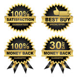 Vector Set of Seals, Money Back, Satisfaction... Vector Money Back -Satisfaction - Best Buy - Set of Seals. Eps8 Royalty Free Stock Image