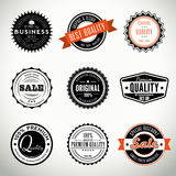 Vector set with seals and stamps. Quality vintage set of seals, stamps and stickers Royalty Free Stock Images