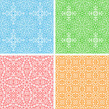 Vector set 4 seamless abstract floral round lace p Royalty Free Stock Photography