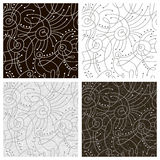 Vector set: seamless abstract patterns Royalty Free Stock Photography
