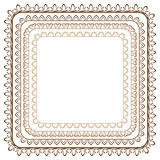 Vector set of seamless brown frames Royalty Free Stock Photography