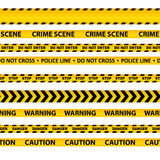 Vector set of seamless caution tapes Royalty Free Stock Image