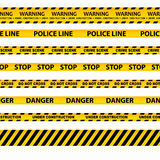 Vector set of seamless caution tapes Stock Image