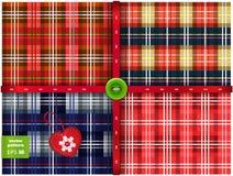 Vector set of 4 seamless Christmas pattern Stock Photo