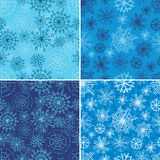 Vector set of seamless Christmas patterns Stock Image
