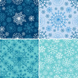 Vector set of seamless Christmas patterns Stock Photos