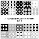 Vector set of seamless circle patterns Stock Photos
