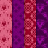 Vector set of seamless damask ornament. Stock Photography