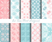 Vector set seamless floral ornament Royalty Free Stock Images